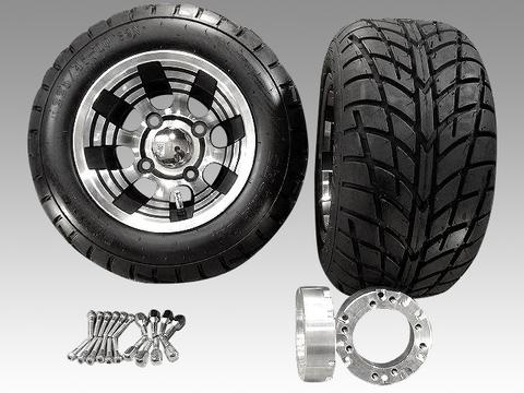 ジャイロ用ブラックアルミホイールバギータイヤ&スペーサー40mmセット品番131