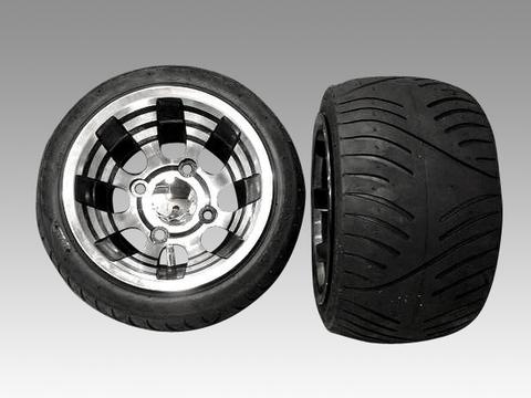 ホンダジャイロにブラックアウト・アルミホイール・扁平タイヤ品番092