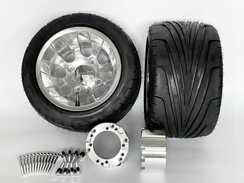 ジャイロ用中反りアルミホイール引っ張りタイヤ&スペーサー70mmセット品番377