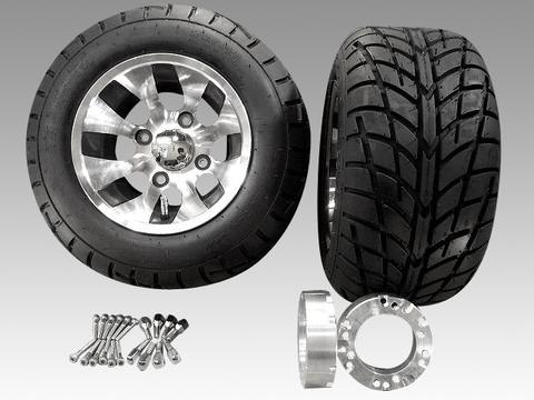 ジャイロ用ツートンアルミホイール バギータイヤ&スペーサー40mmセット 品番155