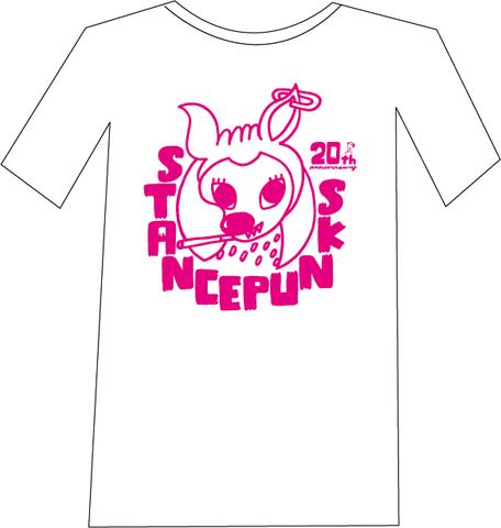 バンビTシャツ<白×ピンク(WEB限定カラー)>