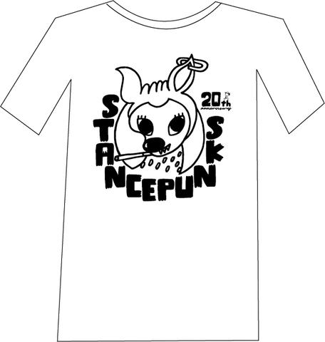 バンビTシャツ<白×黒>