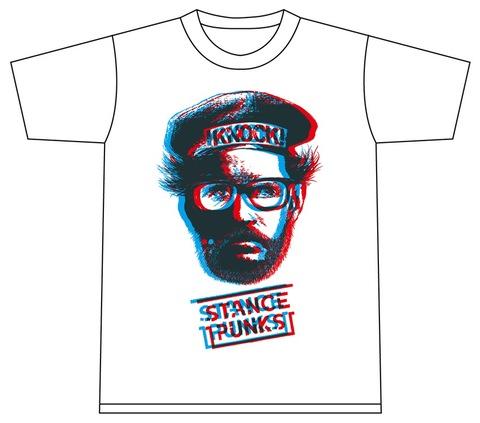 Mr.KNOCK 3D Tシャツ 白