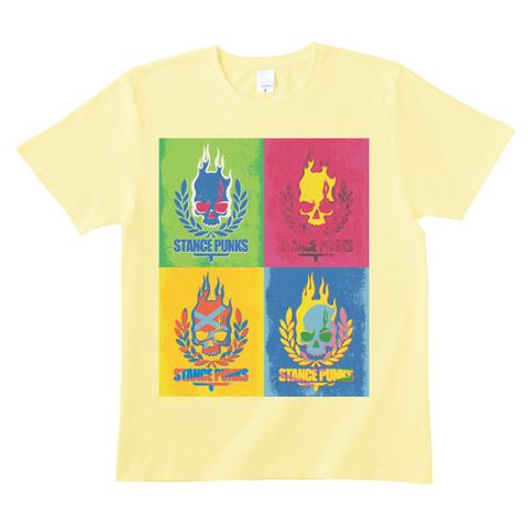 4色スカルTシャツ<イエロー>
