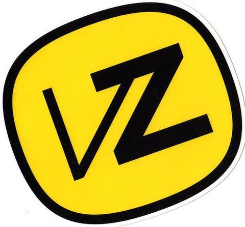 VONZIPPERロゴステッカー14.3cm x13cm