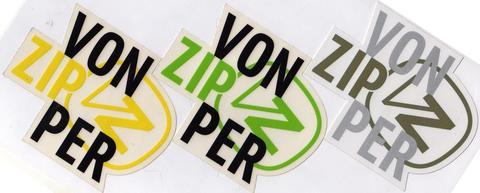 VONZIPPERロゴステッカー11.5cm x 10.3cm