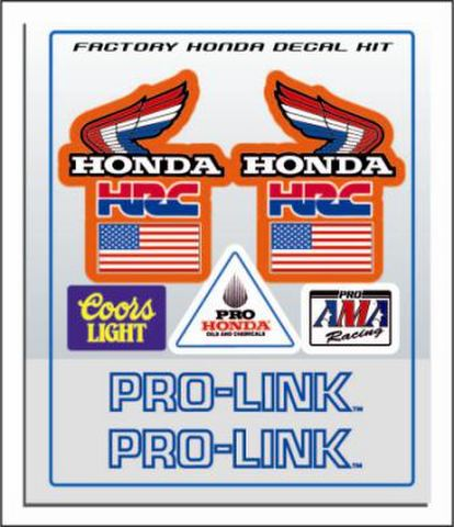 1980's Honda CR HRC Works Decal Trim Kit