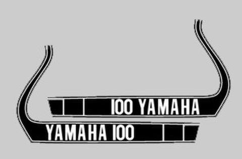1974 Yamaha MX 100-360タンクデカールセット