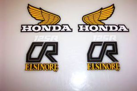 1979 Honda CR 125 Tank & Side Panel Decal Kit