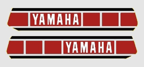 1977-1979 Yamaha YZ250 Euro/USAタンクデカールセット