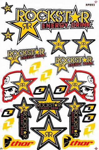 ROCKSTAR (ロックスター)METAL MULISHA(メタル マリーシャ)  ステッカー B5  N185