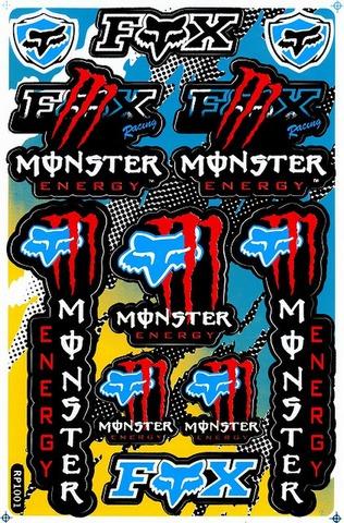 EMONSTER ENERGY(モンスターエナジー) FOX フォックス ステッカー B5 N014