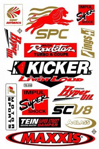 SPC HYPEROIL KICKER INGS+1 IMPUL MAXXIS SCV8 A-CLASS TEIN  ステッカー B5 N083