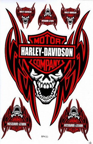 Harley‐Davidson ハーレーダビッドソン ステッカー B5 N224