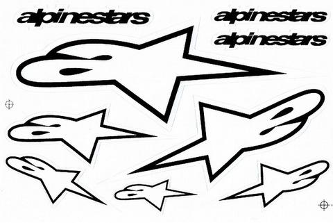 alpinestars(アルパインスターズ)ステッカー B5 N207