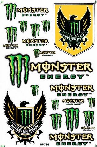 MONSTER ENERGY(モンスターエナジー) ステッカー B5 N122