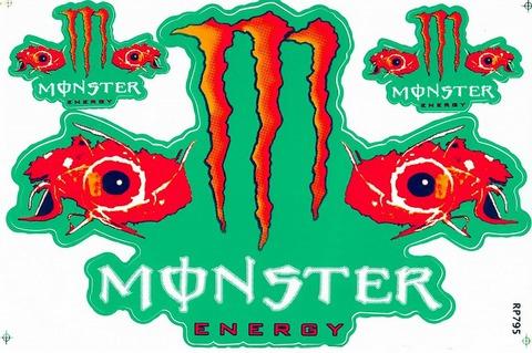 MONSTER ENERGY(モンスターエナジー) ステッカー B5 N129