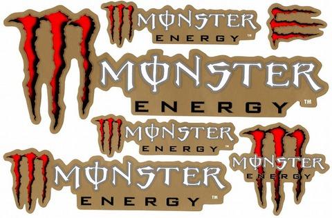 MONSTER ENERGY(モンスターエナジー) ステッカー B5 N136