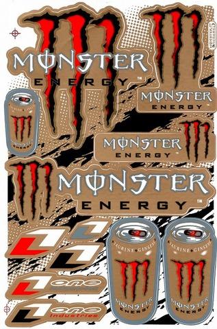 MONSTER ENERGY(モンスターエナジー) ステッカー B5 N137