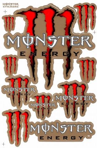 MONSTER ENERGY(モンスターエナジー) ステッカー B5 N138