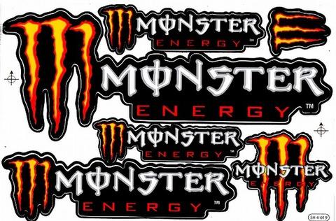 MONSTER ENERGY(モンスターエナジー) ステッカー B5 N153