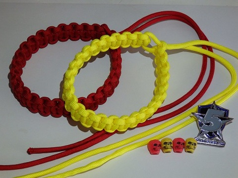 Paracord Marker Yellow/red