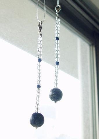 ラピス&水晶ルームチャーム№4959