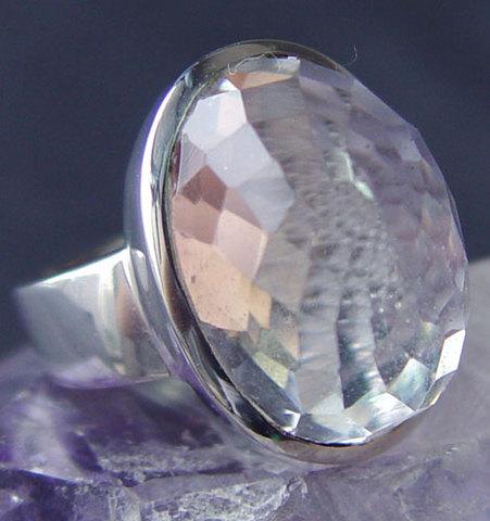 <キャンペーン価格>天然水晶シルバーリング10号No.8645