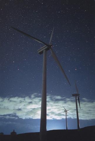 「風の丘の夜」ポストカード