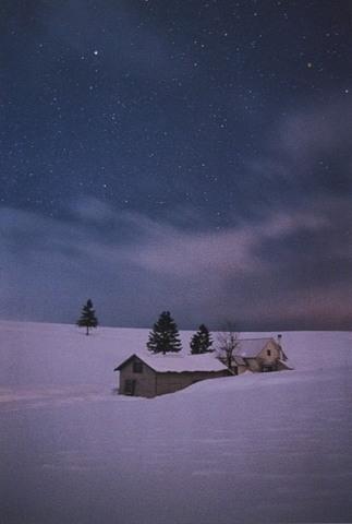 「美瑛の丘の夜」ポストカード