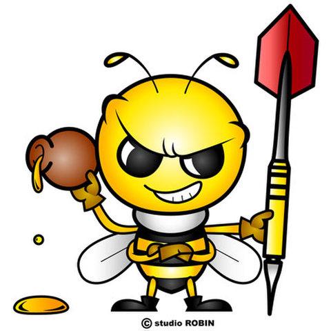 ★ダーツを持ったミツバチB★INS-006