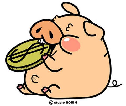 ★ブタの貯金箱★PIG-015