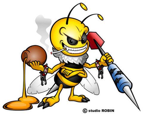 ★ダーツを持ったミツバチD★INS-008