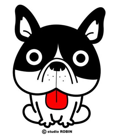 ★フレンチブルドッグ(白黒)★INU-026