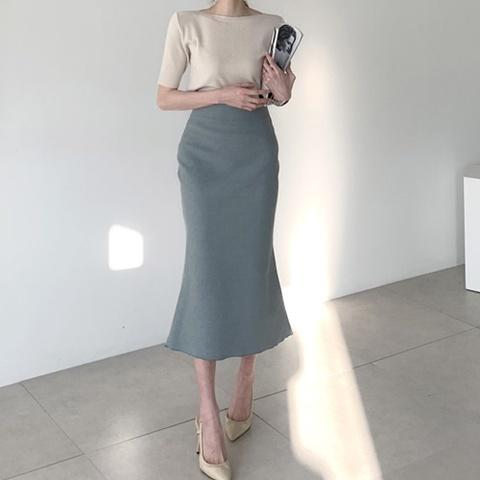 マーメイドミモレ丈スカート