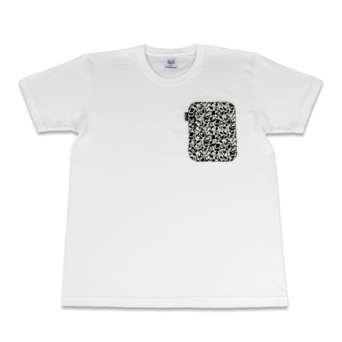 10/2発売【予約限定】ZAKAI x SUIKO 'suiko icon camo' Zip Pocket T-shirt [WHITE]