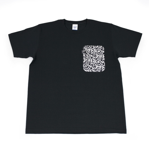 10/2発売【予約限定】ZAKAI x SUIKO 'suiko icon camo' Zip Pocket T-shirt [BLACK]