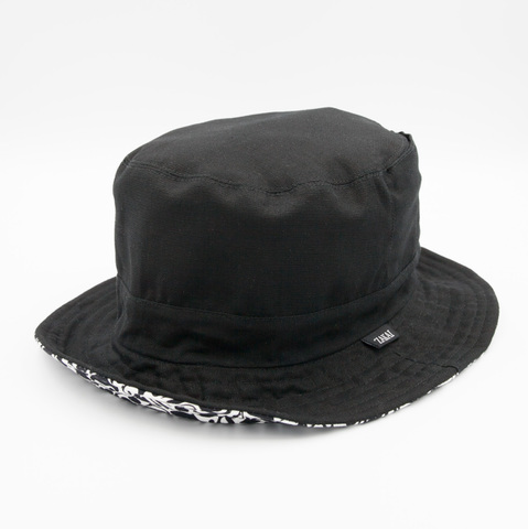 10/2発売【予約限定】ZAKAI x SUIKO 'suiko icon camo' REVERSIBLE LOW SAFARI HAT [BLACK]
