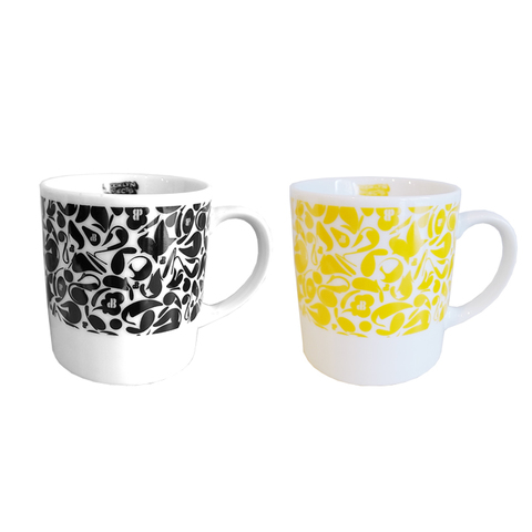 BROOKLYN PROJECTS x SUIKO CAMO MUGCUP : BLACK , YELLOW SET