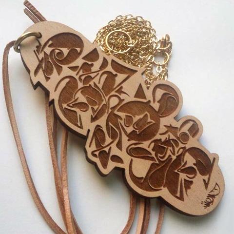 2点限り再入荷「切磋琢磨」GOODWOODNYC 木製ネックレス