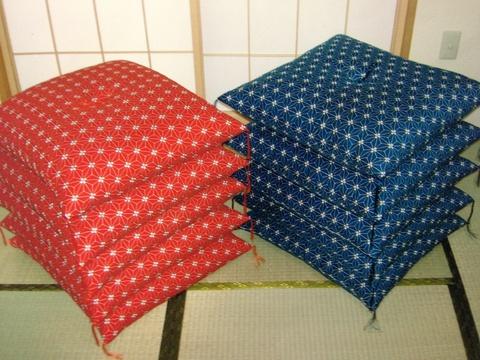手作り座布団 麻の葉 5枚1組