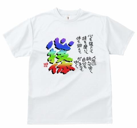 Tシャツ 「心技体」白
