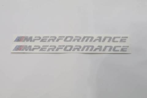 """【BMW純正】BMW エンブレム """"M Performance"""" ステッカー (2枚セット)"""
