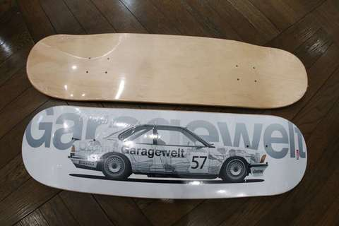 スケートボード ブラックデッキ 635Csi Group A