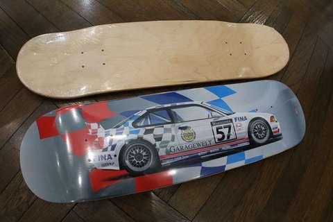 スケートボード ブラックデッキ E36M3 GTR