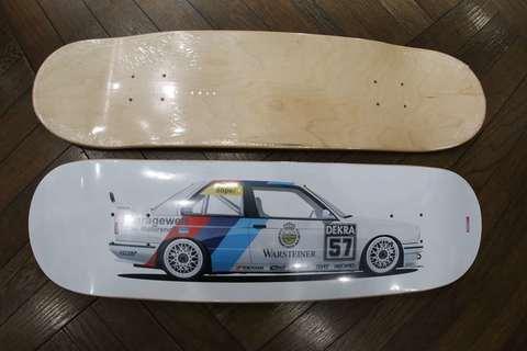 スケートボード ブラックデッキ DTM E30M3