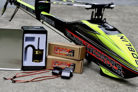 SAB GOBLIN700 BLACK THUNDER メカ、バッテリーセット