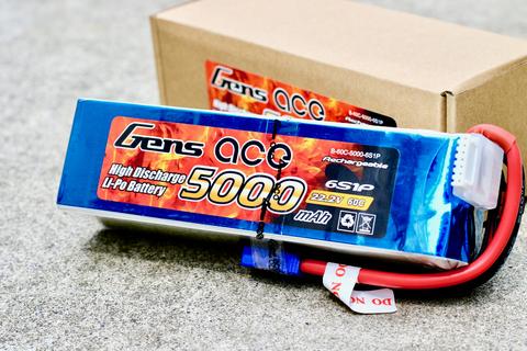 【セール】Gens ace 6S 5000mAh 60C リポバッテリー