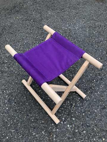 角細足胡床白木紫布