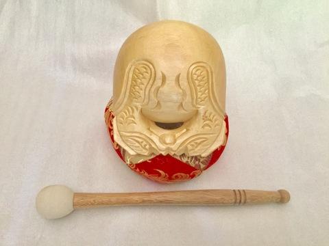 木魚4寸(並彫)座布団・バイ付き